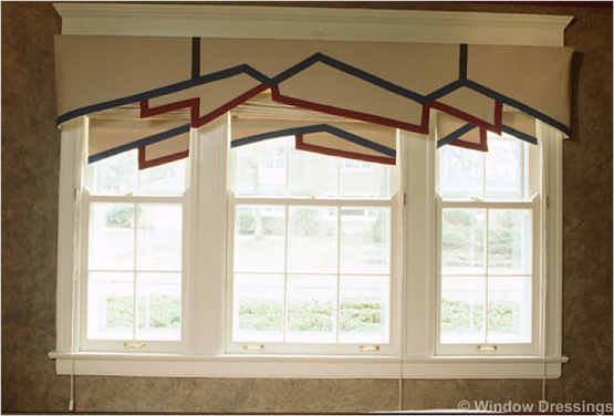 Layered Roman Shades give your room more eye-catching presence